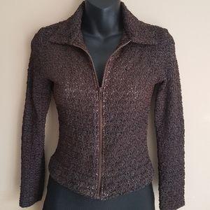 ⭐Vintage⭐Lace Brown Jacket
